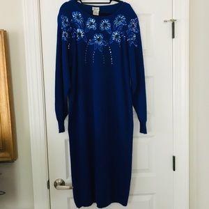 Vintage Sequin Sweater Dress